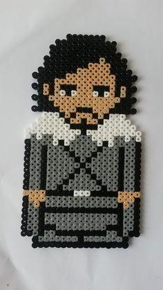 Pixel art Jon Snow de Game of Thrones : Décorations murales par pixel-craft