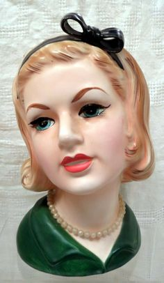 Topline Imports Inc Lady Head Vase #50/425 in Green