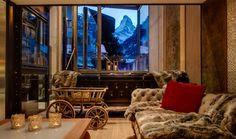 Backstage Luxury Loft, Zermatt  The Backstage Luxury Loft is the newest property from Zermatt's best-known architect and designer Heinz Julen. The Loft is located in a quiet residential area of the town, overlooking the river just a short distance from both the church square and the Matterhorn Express ski lift. The Loft has 600m² of habitable space and can accommodate up to ten guests in five bedrooms.