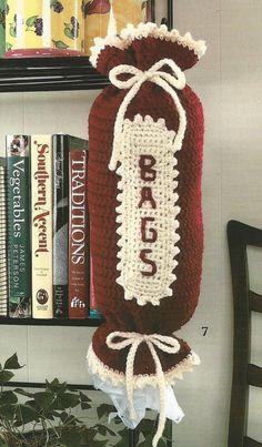 Crochet Crocheting Pattern for a Bag 'Em Up Caddy Bag Holder