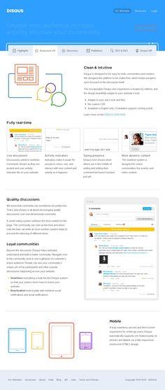 The website 'http://disqus.com/for-websites/awesome-ux' courtesy of @Pinstamatic (http://pinstamatic.com)