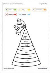 Kolorowanki matematyczne elementarzowe (61-75) - SuperKid Playing Cards, Game Cards