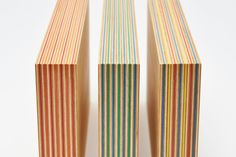 'Butt end of coloured laminate of wood & paper is characteristic of Paper Wood. The stripe of the butt end will have a texture & disctinctive look that can not be obtained by Diy Furniture Cheap, Diy Furniture Renovation, Diy Furniture Hacks, Plywood Furniture, Furniture Design, Furniture Legs, Garden Furniture, Plywood Art, Plywood Shelves