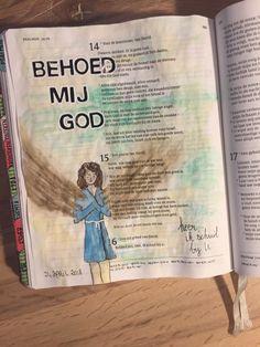 Psalm 16:1 #biblejournaling #bijbeljournalinggroep #illustratedfaith #schrijfbijbel #gansaitambi #staedtler #posca