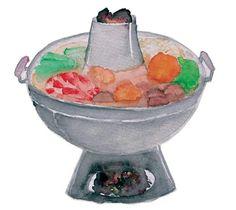Vietnamese hotpot | Watercolor illustration
