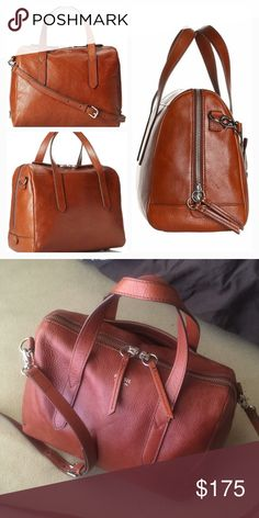 FOSSIL Sydney Satchel in Cognac Pre-loves but in VGUC! More pics and details 705e2e1376