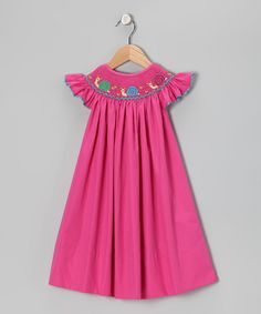 Take a look at this Pink Bishop Dress - Infant, Toddler & Girls by Marjories Daughter on #zulily today!