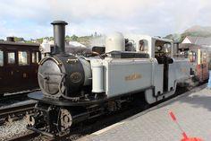 David Lloyd George at Porthmadog Station. Ffestiniog Railway.