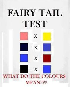 Pink x Yellow (Nalu) Black x Blue (Gruvia) Blue x Red (Jerza) Black x Blue (Gajevy)