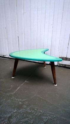 Mid Century Modern End Table, Boomerang shape, Kidney Shaped, Retro end table, Atomic age Furniture, Elvis era, Lacquered top. Side Table. on Etsy, $185.00