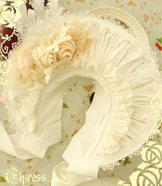 Elpress L Narcissus Lolita Bonnet Black White 2 Colors