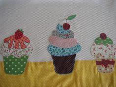 Pano De Prato colorido cupcake   Arti In Panno   Elo7
