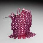 Delicate 'Knit' Glass Sculptures by Carol Milne