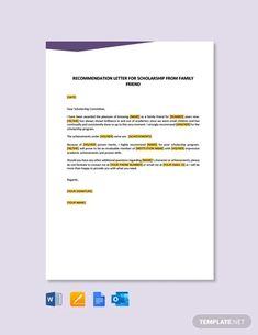 Instantly Download Free Recommendation Letter for Scholarship from Employer, Sample & Example in Microsoft Word (DOC), Google Docs, Apple Pages Format. Quickly Customize. Easily Editable & Printable. Reference Letter Template, Letter Templates, Writing Letter Of Recommendation, Resignation Letter, Letter Sample, Word Doc, Explain Why, Printable Worksheets, Letters