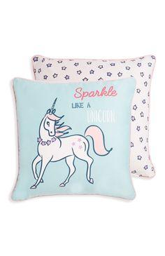 Primark - Blue Unicorn Cushion