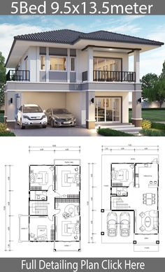 Free Modern House Plans Awesome 5 Free Diy Tiny House Plans to Help You Live the Small – Home Design House Layout Plans, Duplex House Plans, Bedroom House Plans, Dream House Plans, House Layouts, Bungalow Floor Plans, Family House Plans, 2 Storey House Design, Bungalow House Design