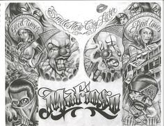 Chicano+Art+Tattoos | chicano art flash - Dragon-Tattoo Hamburg