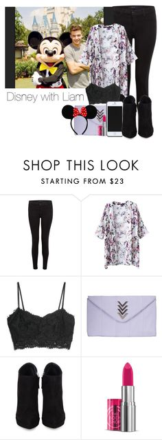"""Disney with Liam"" by smery09 ❤ liked on Polyvore featuring J Brand, MANGO, Atmos&Here, Kate Spade Saturday, Giuseppe Zanotti, The Body Shop and Disney"