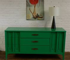 that would be a perfect dining room sideboard or bedroom dresser!  etsy custom $495