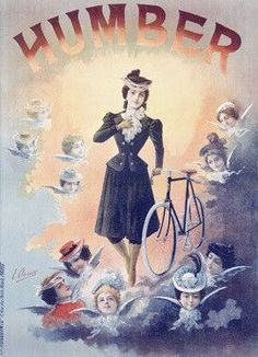 Thomas Humber Bicycle Angel Ad Fine Art Print #vintagebicycles