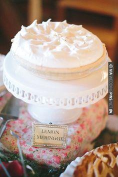lemon meringue pie | CHECK OUT MORE IDEAS AT WEDDINGPINS.NET | #weddingcakes