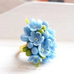 Vergissmeinnicht Ring einstellbar Blumen-Ringe von IrynaFleur