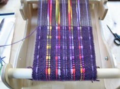 Using ribbon yarn for part of the warp