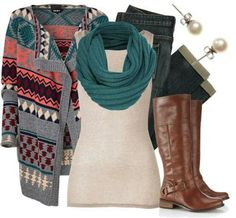 love the cardigan and boots