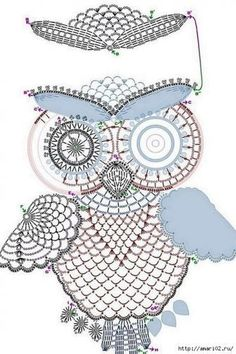 Crochet owl pattern by tasamajamarina Owl Crochet Patterns, Crochet Owls, Owl Patterns, Thread Crochet, Crochet Baby, How To Do Crochet, Crochet Home, Crochet Crafts, Crochet Projects