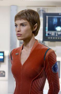 Jolene Blalock as T'Pol from ST Enterprise.