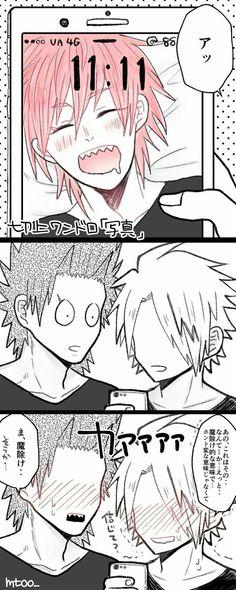 My Hero Academia - Kirishima x Kaminari Buko No Hero Academia, My Hero Academia Memes, My Hero Academia Manga, Kirishima Eijirou, Human Pikachu, Anime Rules, Villain Deku, Fanarts Anime, Boku No Hero Academy