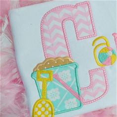 Sand Pail Alpha by Planet Applique