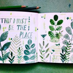 #Art #journal #sketchbook by @abigailhalpin