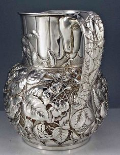 Beautiful silver pitcher