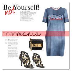 """Logomania!"" by tatajrj ❤ liked on Polyvore featuring moda, Fendi, Moschino e logomania"