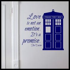 Love is not an Emotion It's a Promise