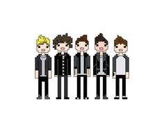 One Direction Take Me Home tour cross stitch by Nerdstitcher, $6.50