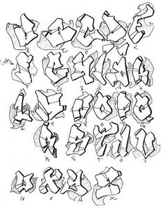 My Graffiti Alphabet Sketch by lil-wiggles Grafitti Alphabet, Alphabet Tag, Graffiti Lettering Alphabet, Graffiti Text, Graffiti Writing, Best Graffiti, Tattoo Lettering Fonts, Graffiti Murals, Street Art Graffiti