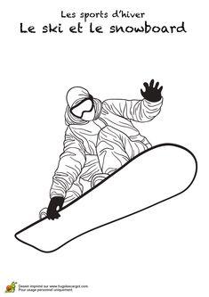 L'hiver c'est aussi la neige et les différentes activités à faire. Ce coloriage t'invite à faire du snowboard. Sors tes feutres et amuse-toi à embellir ce champion de la glisse. Imagine le faire des figures incroyables. Joue avec ton imagination pour lui offrir la plus belle des combinaisons. N'attends plus pour imprimer l'image gratuitement. Art Drawings For Kids, Drawing For Kids, Art For Kids, Coloring For Kids, Coloring Pages, Snowboarding, Skiing, Hover Bike, Canvas Collage