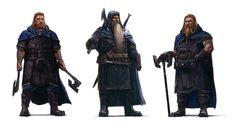 Fili, Thorin and Kili first concept