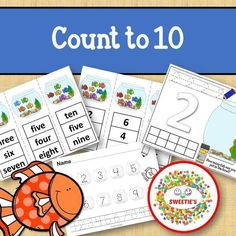 Count 1 to 10 - How Many Fish in the Bowl Counting Activity from Sweetie's