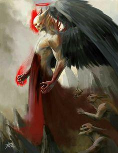 Dark art for our inner demons: Photo Fantasy Kunst, Dark Fantasy Art, Fantasy Artwork, Dark Art, Demon Artwork, Monster Art, Arte Horror, Horror Art, Fantasy Creatures