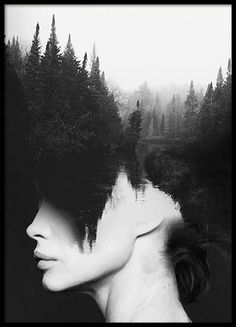 Poster med fotokonst i svartvitt...
