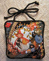 Halloween crazy quilt