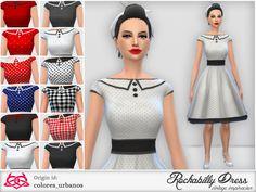 Rockabilly style! organza crinoline!  Found in TSR Category 'Sims 4 Female Everyday'