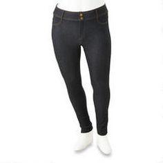 Jegging coupe jeune pour tailles fortes Blue Crush Blue Crush, Dame, Black Jeans, Pants, Fashion, Human Height, Trouser Pants, Moda, Trousers