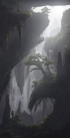 Ideas Fantasy Landscape Drawing Rpg For 2019 Fantasy Concept Art, Fantasy Artwork, Fantasy Places, Fantasy World, Landscape Concept, Landscape Art, Valley Landscape, Landscape Wallpaper, Fantasy Kunst