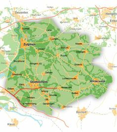 Kaart Achterhoek
