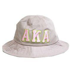 4cb6a07eccbf4 Alpha Kappa Alpha Sorority Greek Letter Bucket Hat