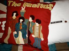 The Beatles Yellow Submarine Cushion Pillow Red by ByeBrytshi, £18.00